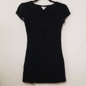 Knit-lace Mini Dress